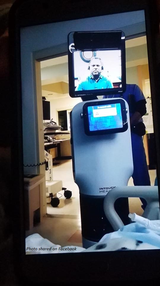 Doctor Delivers Bad News by Robot Machine