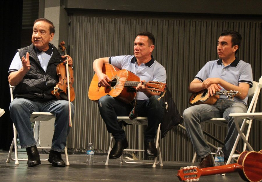 Son Huasteco group Trío Chicontepec: Founder Rolando Hernandez, Jorge Hernandez and Dr. Edgar Hernandez.