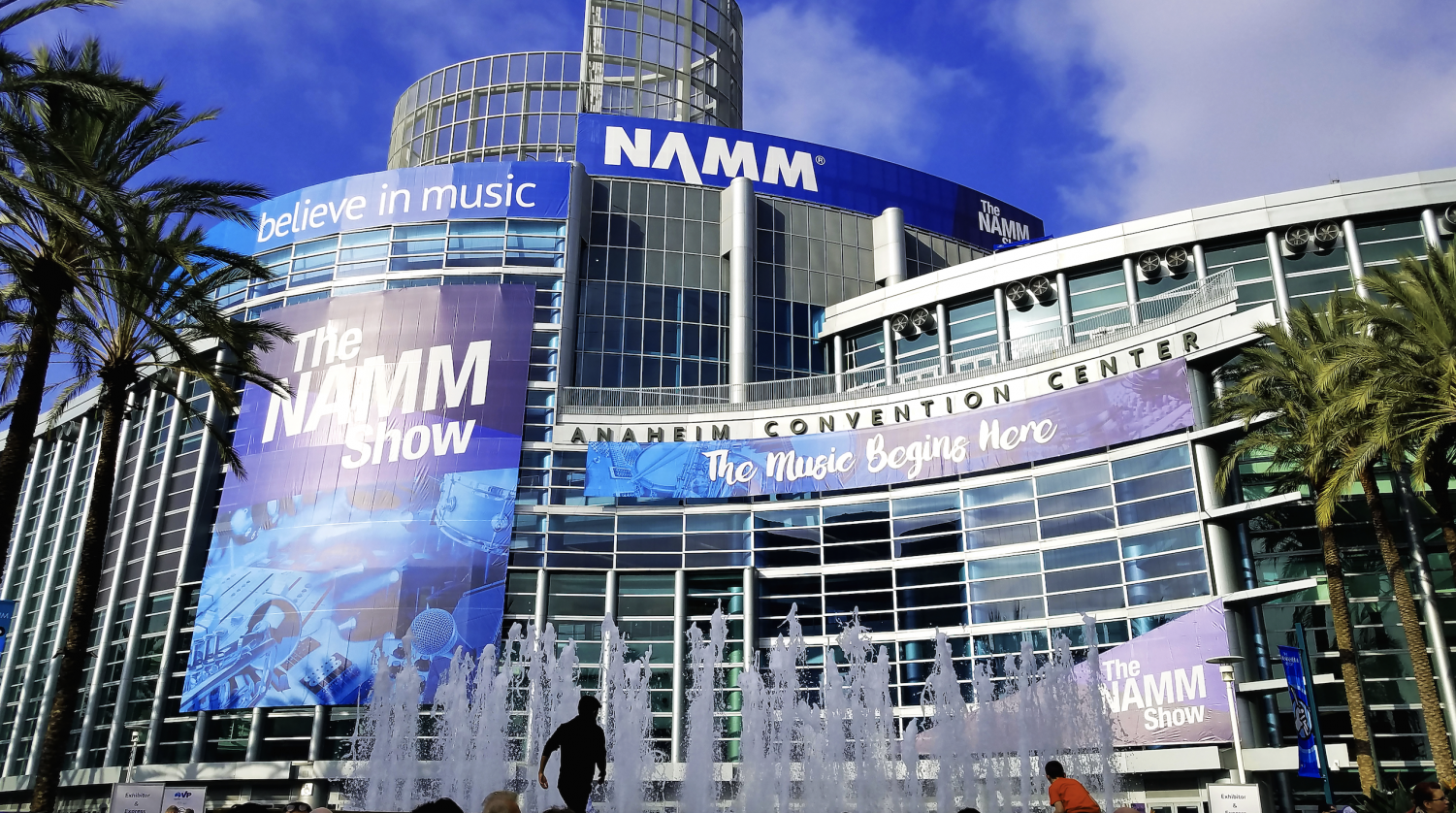 The Anaheim Convention Center where The NAMM Show takes place every year. Though the event is a trade-show, the organization also aids in helping the future of music by funding charities and educational programs.