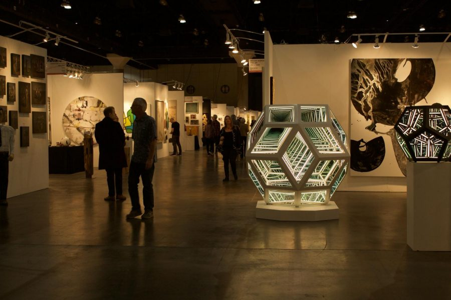 The LA Art Show kicked off with a calm start on February 6th Thursday morning, allowing attendees a more personal experience with the art pieces.