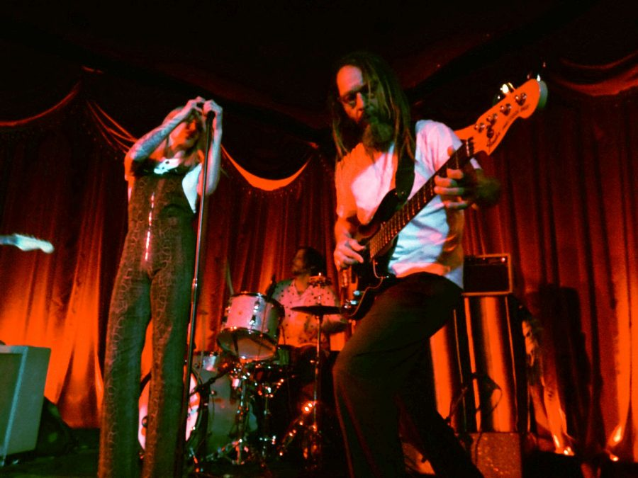 Rachel Rainwater and Tony Alva give all their energy to the crowd in Long Beach. The band made their album debut in 2013 with