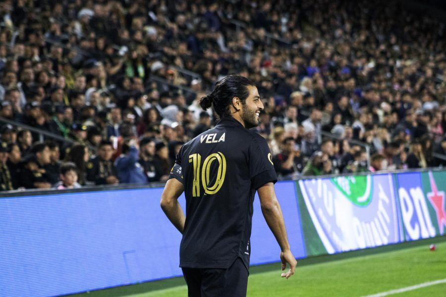 Carlos Vela scores his 50th MLS goal since arriving to Los Angeles.