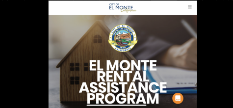 A screenshot from El Monte's website displaying the Rental Assistance Program, a COVID-19 relief fund of $1,200 for renters within the community.