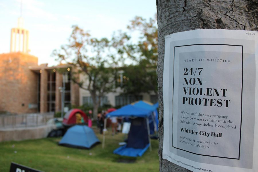 The 24 Hour Protest In Front of Whittier City Hall