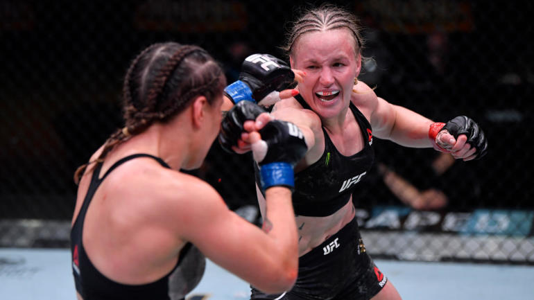 Four Time Winning Champion Valentina Shevchenko defends her title against Jennifer Maia. She has 20 MMA Pro wins along with the Highest Striking Defense in UFC Flyweight History with 71.2%.