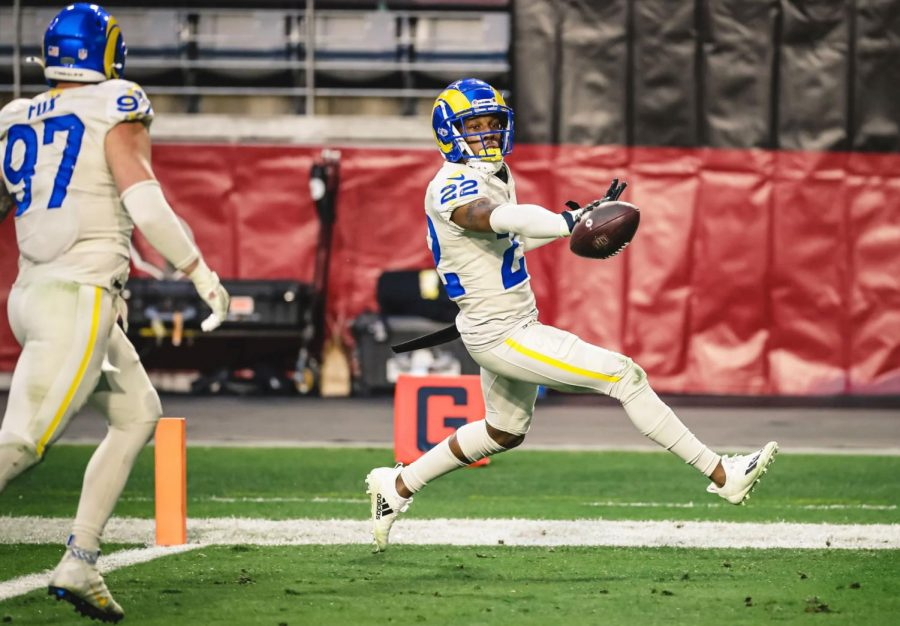On 3rd&9, Cardinals quarterback Kyler Murray was picked off by Rams defender Troy Hill, who ran the interception into the endzone for a touchdown. This was Hill's first career pick-six, and it sealed the Rams' 38-28 win over the Cardinals.