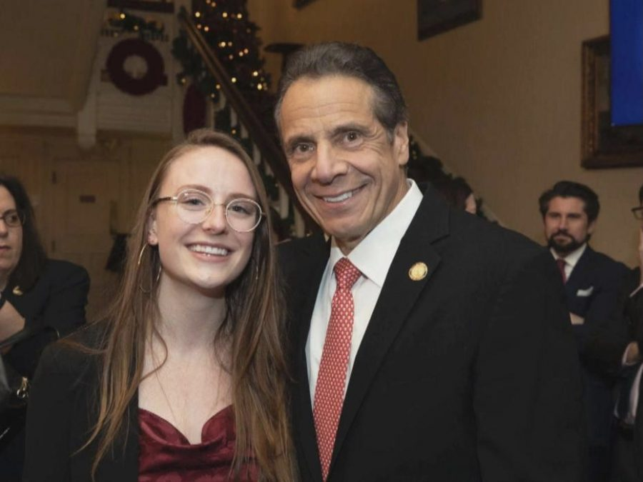 Governor Andrew Cuomo with Charlotte Bennett, one of the women that would later accuse him of sexual harassment. She said she looked up to him at one time and felt betrayed how he came on to her.