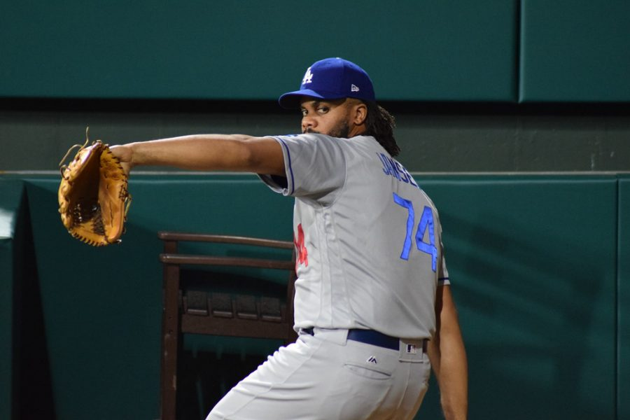 Photo Caption: Kenley Jansen enters his 17th year into the Dodgers organization. This offseason he did not go back to his home of Curacao, putting in more work than ever as he approaches the last year of his contract.