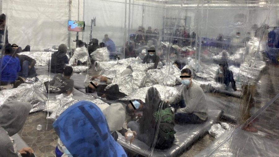 Children caught by Customs and Border Patrol agents are kept in facilities like this for up to two weeks.