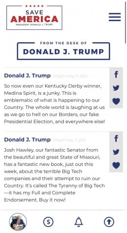 Some of former President Donald Trump's latest post on his new platform.