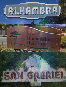 Alhambra, Hacienda Heights, and San Gabriel were established from 1771-1961. Each cities crime rate has heightened within the past years. According to neighborhoodscout.com, Alhambra is rated 23, Hacienda heights 41, and San Gabriel 27, (100 being the safest).