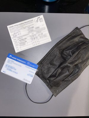 Covid-19 Essentials: Mask, Insurance Card, and Vaccination Card. Civilians now need to wear a mask to protect themselves, an insurance card to maintain their health, and vaccination card to attend local outings.