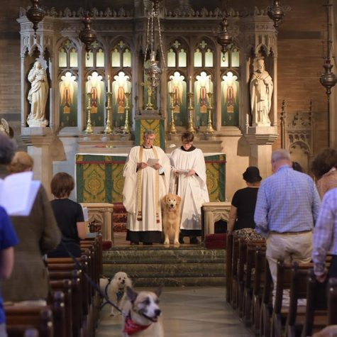 Mass being given at Saint Ignatius of Antioch NYC on Monday, Oct.4, 2020. The mass was socially distanced.