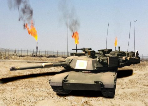 A model of an M1A1 Abrams tank used in Iraq by the USMC. These vehicles also saw service in Afganistan