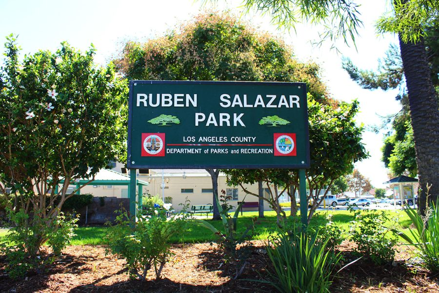 Ruben Salazar Park in East Los Angeles, California was the sight of the Chicanx Moratorium in 1970. Photo by Jeffrey Barragan